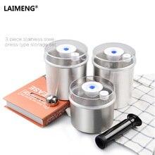 Laimeng Еда вакуумный контейнер для вакуумный упаковщик упаковочная машина свежие нержавеющей канистра 1300 мл + 1000 мл + 700 мл S165
