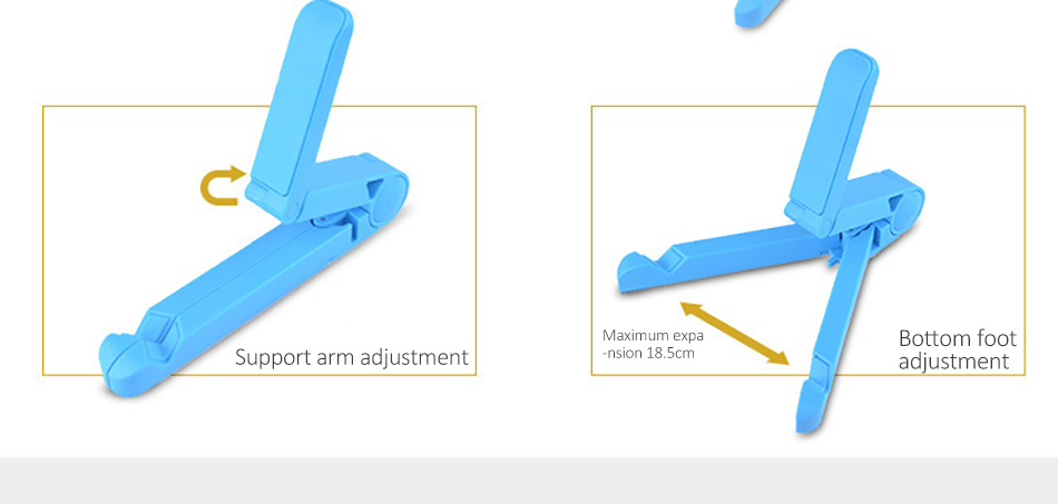 !ACCEZZ ABS Universal Phone Holder For iPhone X 8 7 6s Plus Stand Support For iPad Desktop 180 Degree Adjustable Tablet Bracket (6)