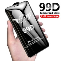 99D protective glass for iPhone 6 6S 7 8 plus X XR XS MAX glass on iphone 7 6 X screen protector iPhone 7 plus screen protection