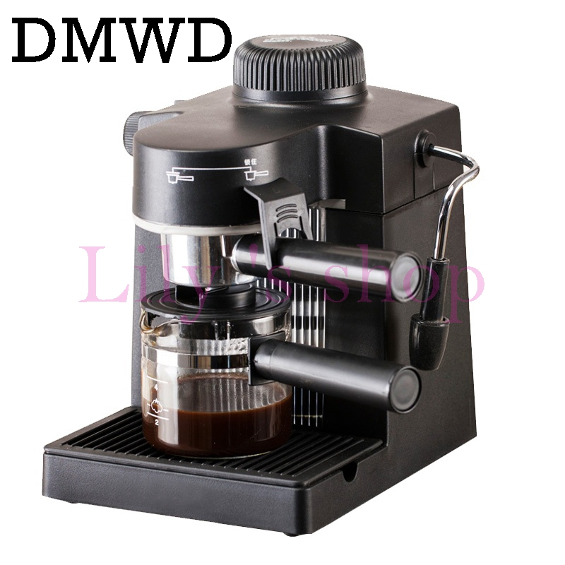 DMWD Semi-Automatic Espresso coffer maker Steam Type milk foam Bubble instant heating coffee machine Commercial/Household 5bar free shipping electronic high pressure steam foam for commercial household semi automatic coffee machine coffee machine