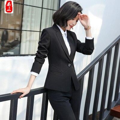 Pants pièce Élégant Printemps suits Tempérament Deux And Sauvage Pants Professionnel 2018 Automne Ensemble Suits Slim De Salopette Mode Skirts Nouveau Costume Femmes suits U44nqOxvp