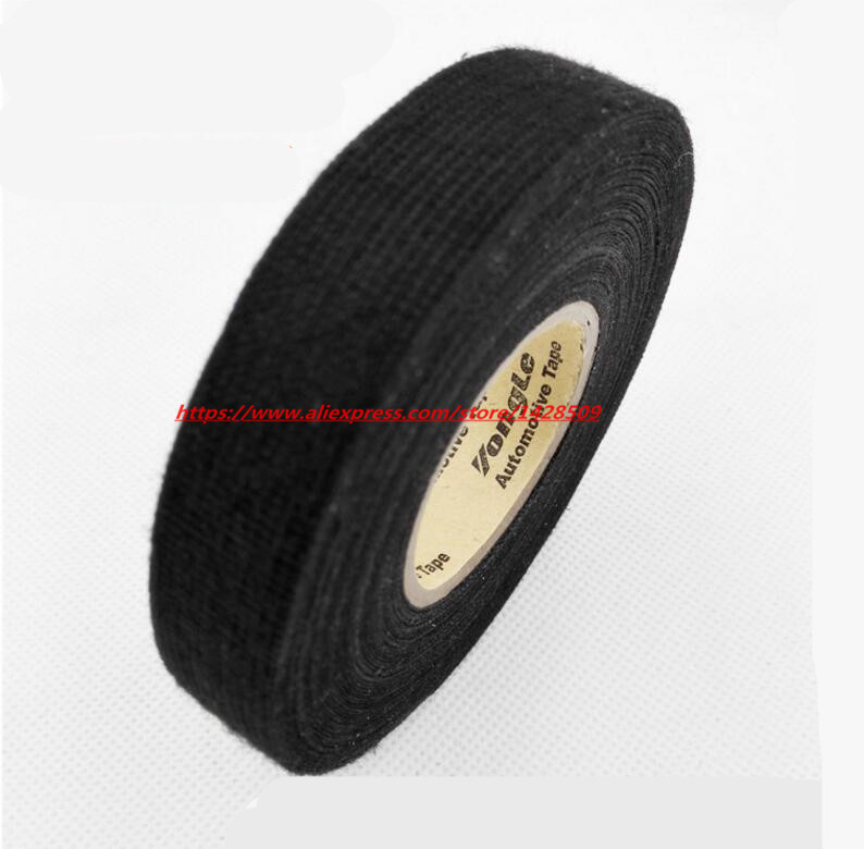 19mmx20m-universal-flannel-fabric-cloth-tape-automotive-wiring-harness-flannelet-glue-high-temperature-tape