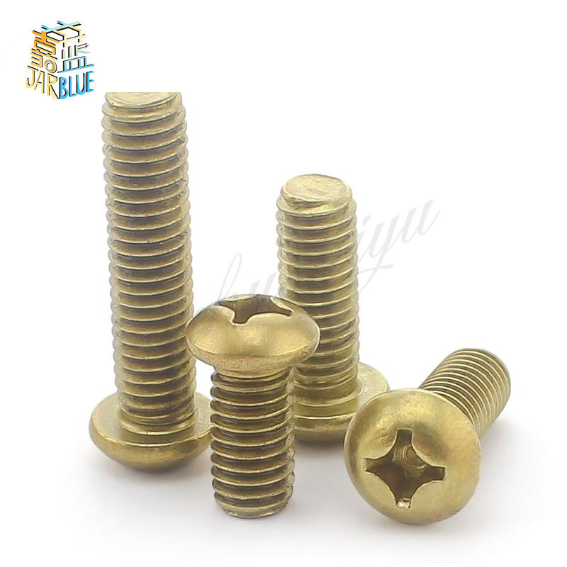 Free shipping GB818 Round head  brass Copper M2 M2.5 M3 M4 M5 M6 pan screws Cross machine 2017Free shipping GB818 Round head  brass Copper M2 M2.5 M3 M4 M5 M6 pan screws Cross machine 2017