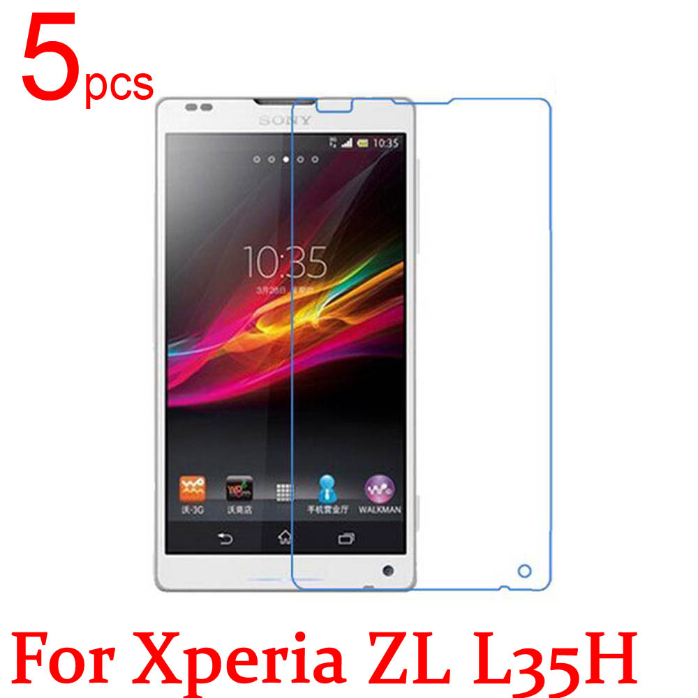 5pcs Ultra Clear Matte Nano LCD Screen Protector Film Cover For Sony Xperia ZL L L35H S36H C2104 C2105 C6503 C6502 Film + Cloth