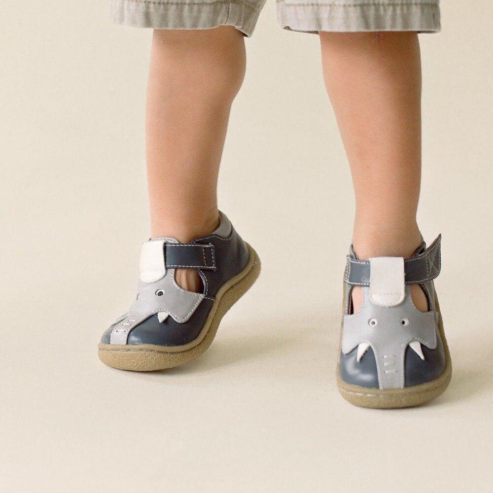 TipsieToes superior calidad de marca de cuero genuino niños bebé niño niña niños elefante zapatos de moda pies zapatillas de deporte - 3