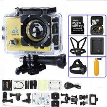 Действие Камера 4 К Ultra HD WI-FI 1080 P/30fps 2.0 ЖК-дисплей 170 объектив Дайвинг Водонепроницаемый 30 м DV шлем CAM спортивные камеры