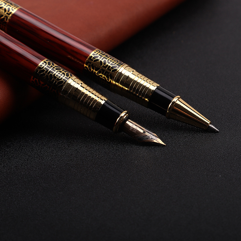 1pcs High-end Business Metal Ballpoint Pen China Wind Hotel Signature Pen Office School Pen