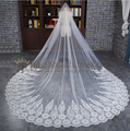 2017 new style long wedding veils white 3 m bride lace wedding veil bridal veil with comb