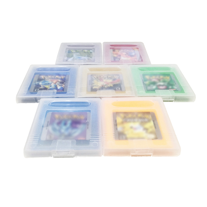 PokemonSeries 7 Colors Video Game Cartridge Card English Language Version