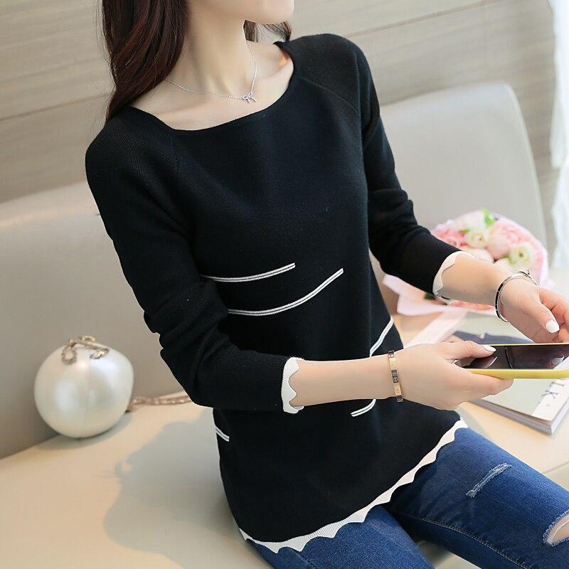 2017 Nova Primavera camisola das mulheres Moda Listrado svetr Blusas feminina de slash límec blusas de manga longa mulheres