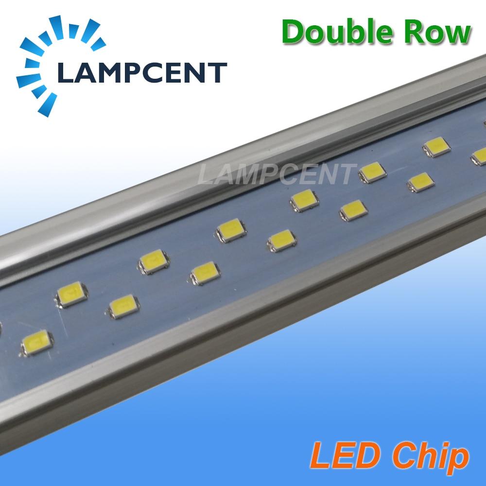 T8 LED Tube ampoule 2ft 3ft 4ft 5ft 6ft Double rangée G13 bi-pin lampe LED lumières de magasin 15/20/25/30 Pack - 6