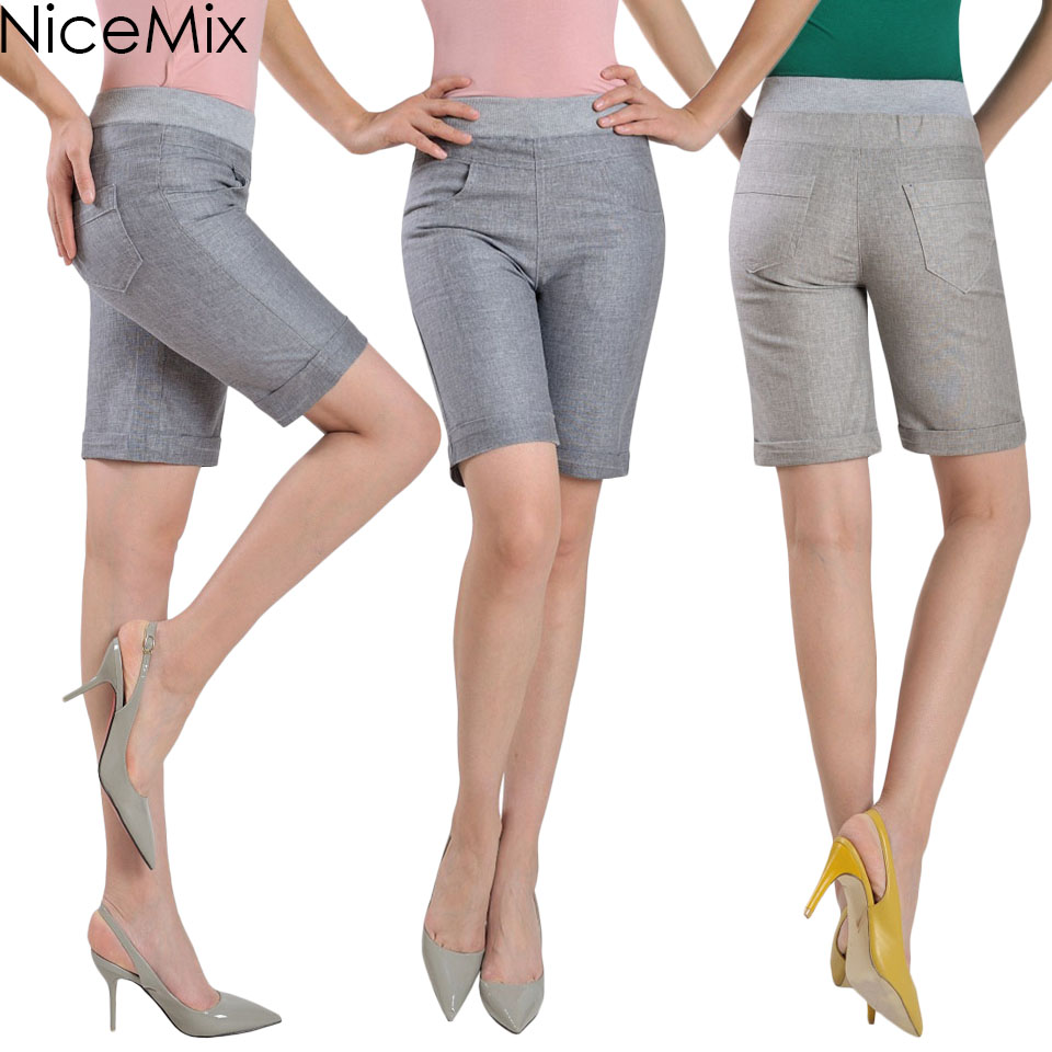 Ladies Knee Shorts Promotion-Shop for Promotional Ladies Knee ...