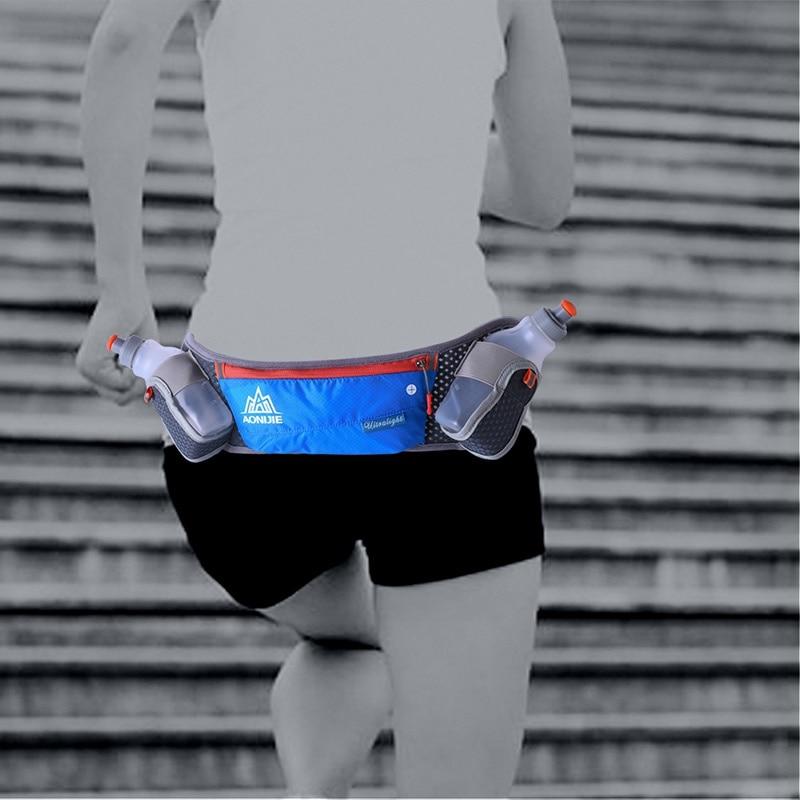 Deporte de Caminar Trotar Senderismo Hidratación Útil Bum Cinturón Botella de Ag