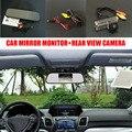 5 ''TFT LCD Auto Espejo Retrovisor Del Coche Monitor + Visión Nocturna coche Cámara de Marcha Atrás atrás Para Toyota Land Cruiser LC 100 120 200
