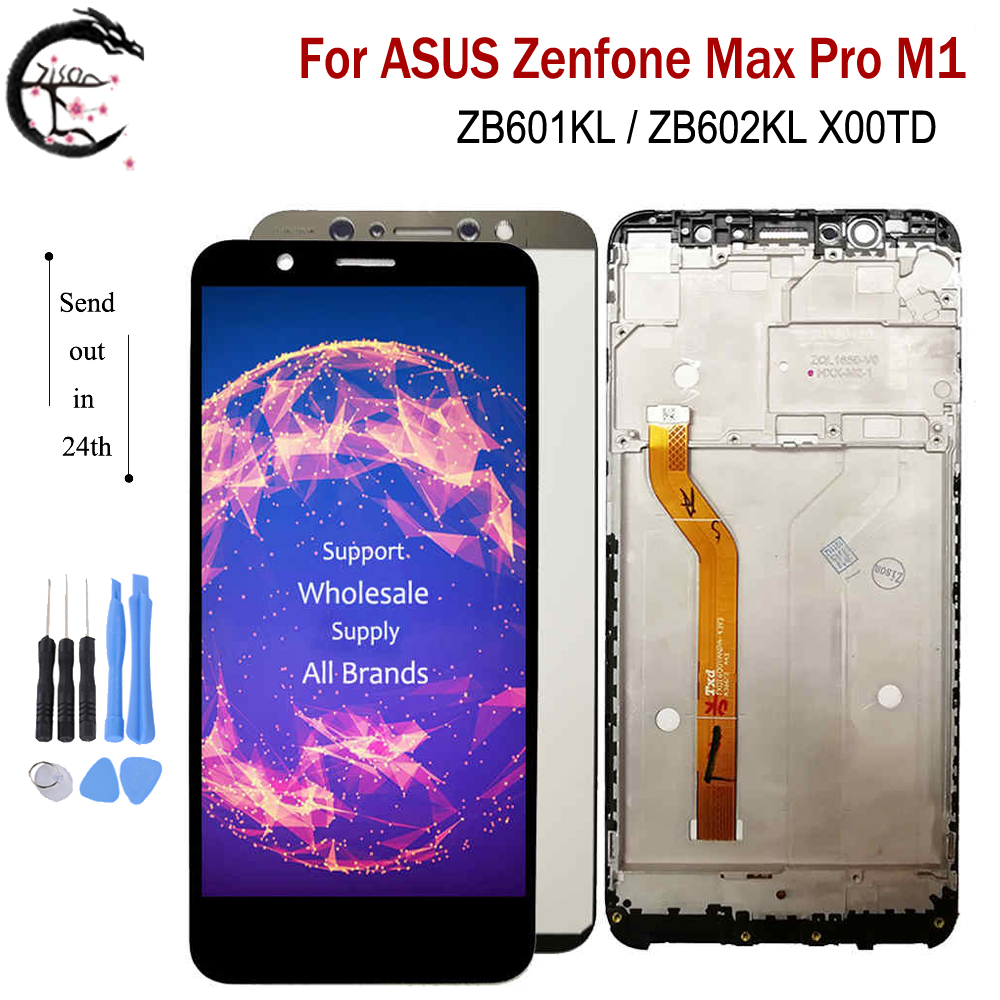 <font><b>LCD</b></font> With Frame For ASUS Zenfone Max Pro M1 ZB601KL <font><b>ZB602KL</b></font> X00TD Full <font><b>LCD</b></font> Display Screen Touch Sensor Digitizer Assembly 5.99
