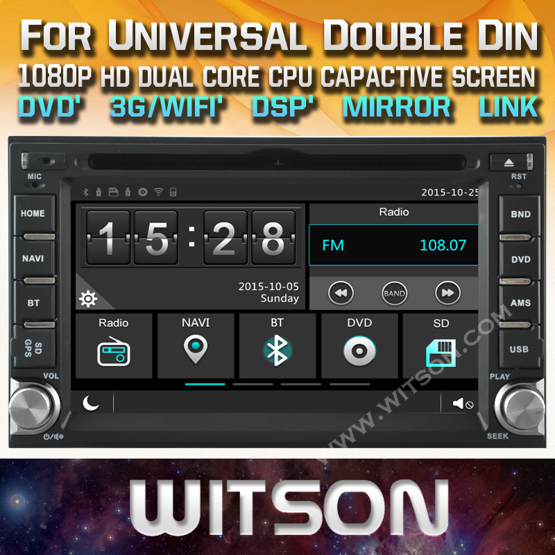 WITSON UNIVERSAL CAR DVD GPS WITH New Technology Capctive Screen 1080P DSPsupport WiFi 3G DVR Good