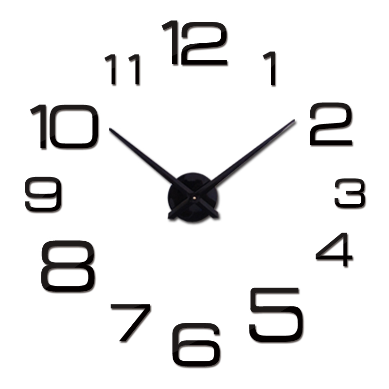 New Diy Wall Clock Acrylic Diy Clocks Quartz Watch Reloj De Pared Living Room Modern 3d Mirror Stickers Horloge Home Klok