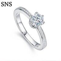 0,3 cttw природных алмазов обручальное для Для женщин 14 К белого золота свадебные Обручение кольцо Ювелирные изделия с алмазами