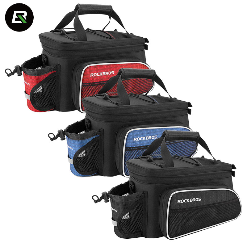 Rockbros MTB Bike Bag Waterproof Bicycle Bag Multifunction Cycling Rear Seat Trunk Bag Luggage Package Saddle Bags Accessories conifer travel bicycle rack bag carrier trunk bike rear bag bycicle accessory raincover cycling seat frame tail bike luggage bag