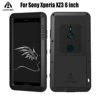 Original Lovemei Heavy Duty Aluminum Metal + Gorilla Glass Shock Drop Waterproof case for Sony Xperia XZ3 6 inch SXZ1