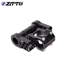 ZTTO 7075 aluminum alloy CNC ultralight high strength adjustable folding bike Double rod fitting for folding bike 25.4mm the newest diy cnc aluminum alloy automatic spring folding tube mount d25mm for diy multirotor drones