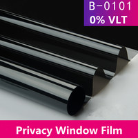Non transparent Anti UV Window Film Black Color 0% VLT Kitchen Bathroom Window Glass Stickers Window Films 1.52m x 2m