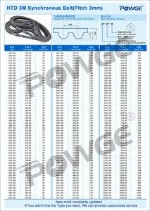Image 5 - POWGE HTD 3M C = 420 423 426 432 רוחב 6/9/15mm שיניים 140 141 142 144 HTD3M סינכרוני 420 3M 423 3M 426 3M 432  3M
