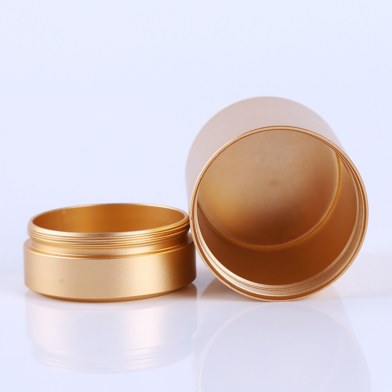 Airtight Smell Proof Container Aluminum Herb Stash Jar Tea Coffee Storage Box Tea Caddies Box