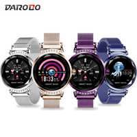 DAROBO H2 Smart Watch Women Blood Pressure Fitness Tracker Heart Rate Monitor Waterproof Lady Smartwatch for Android IOS