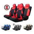 Universal Four Seasons Mesh Fabric Car Seat Cover Set  Auto Cushion Steering Wheel Wrap Simple Installation 13pcs Easy to Clean