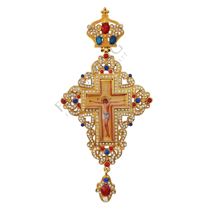 High quality pectoral cross orthodox gold and silver color orthodox Russia cross Russia Jewelry pastor craft