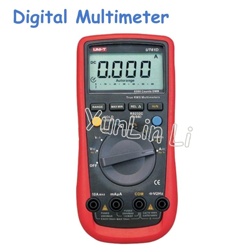 AC/DC Digital Multimeter Handheld Digital Multimeters Auto-Ranging Sinometer UT61D детектор sinometer ts 72
