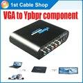 Портативных ПК VGA на Компонентный 5RCA видео аудио конвертер Splitter поддерживает VGA и компонентный выход в то же время