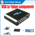 PC laptop VGA to Component 5RCA video audio converter Splitter supports VGA&component output at the same time
