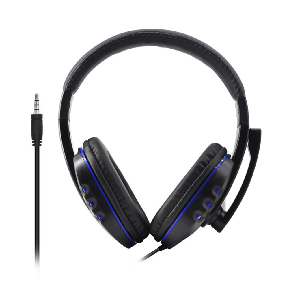Universal Gaming Headphone Wired Music HD With Microphone Deep Bass -mounted Professional Sound Adjustable Computer Stereo