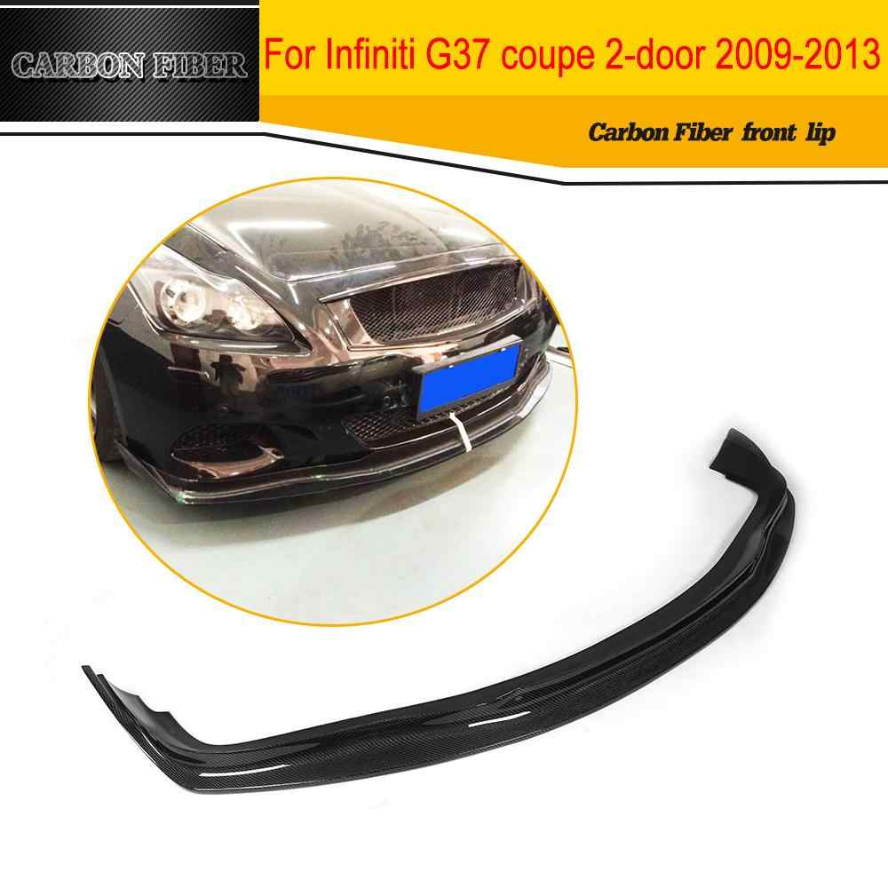 Carbon Racing Front Lip Spoiler Apron Car Styling For Infiniti G37 Coupe 2009-2013 BASE COUPE JOURNEY COUPE