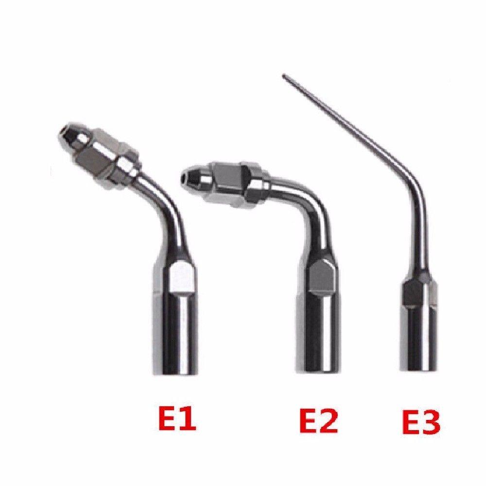 3pcs दंत ENDO युक्तियाँ संगत ईएमएस वुडपेकर अल्ट्रासोनिक स्केलर चापलूसी