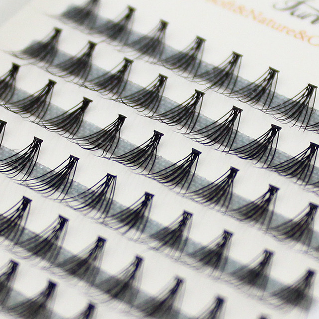 12/10/8mm 120 piezas maquillaje profesional Individual Cluster ojo pestañas de injerto falso falsas pestañas