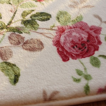 רומנטי פרחוני חדר רצפת מחצלות, מתוק עלה הדפסת שטיחים לסלון מודרני, מעצב עלוב סגנון פרח שטיח דקורטיבי