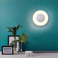 Modern Nordic Round Full Moon LED Wall Lamp Bedside Light Child Bedroom Living Room Sconce Light Fixture Wall Decor Art White