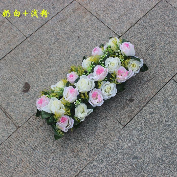Свадебная композиция Свадебные Искусственные Свадебные шелковые розы арки цветочное свадебное украшение ряд цветов рамка с цветами 10 шт./партия - Цвет: FD02