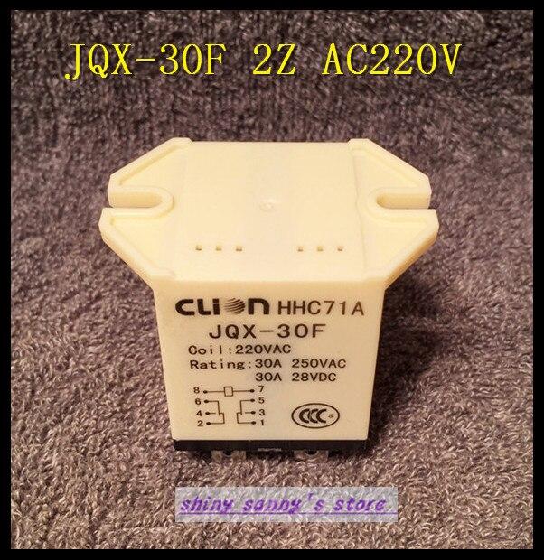 3 peças/lote jqx - 30f 2Z AC 220 V bobine 30A 250 V AC relais de puissance 8 pino DPDT Brand New