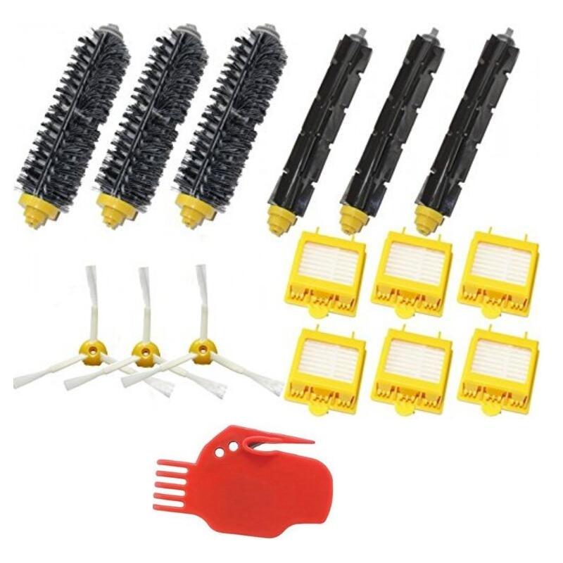 Vacuum Cleaner Parts Original New Hot Hepa Filters 760 770 780 Series & Brush Pack Kit 3 Armed For iRobot Roomba 700 Series 10pcs new original stk433 760