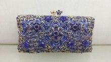 Freies verschiffen!! A15-6, blaue farbe mode top kristallsteinen ring handtaschen für damen nette parteibeutel