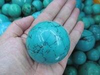Alta qualità Della Pietra Preziosa della pietra del turchese Roccia Sfera Sfera blu Verde turchese Gem Stone Ball per il Cristallo Cabochon Roccia 20-100mm