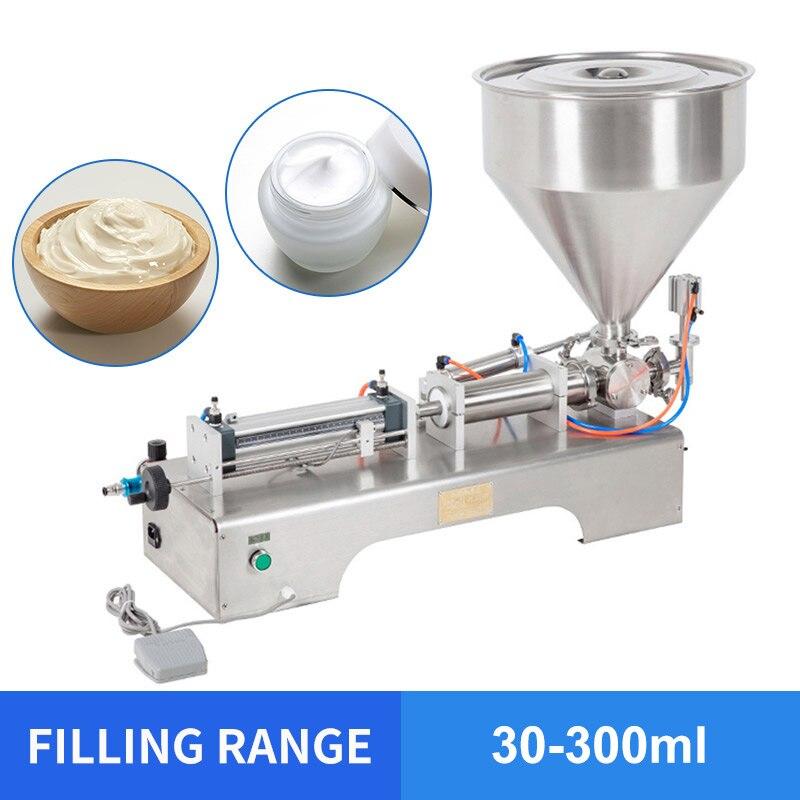 YTK 30 300ml Single Head Cream Shampoo Pneumatic Filling Machine Piston Cosmetic Paste Cream Shampoo filling machine grind