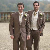 Custom made to Tailor Made brown wedding suits for men slim classical men wedding customized letters suit for men