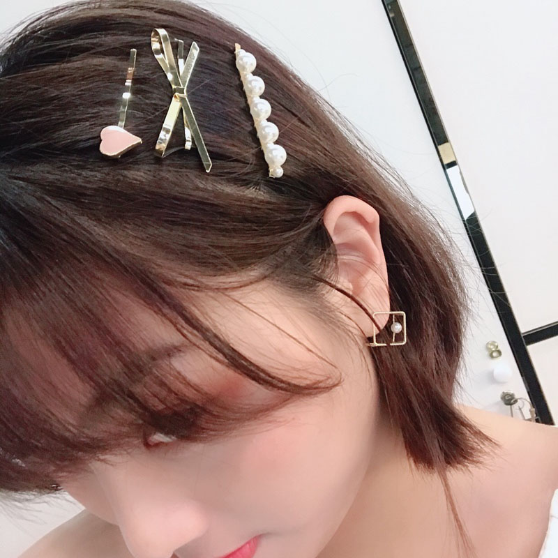 3Pcs Set Gold Pearl Bowknot Hair Pins for Women Wedding Bride Hair Jewelry Accessories Hair Stick Love Heart Bowknot Jewelry in Hair Jewelry from Jewelry Accessories