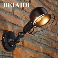BEIAIDI Nordic Personality E27 Retro LED Wall Lamp Industrial Loft swing Arm LED Wall Light For Bedroom Hall Aisle Restuarant