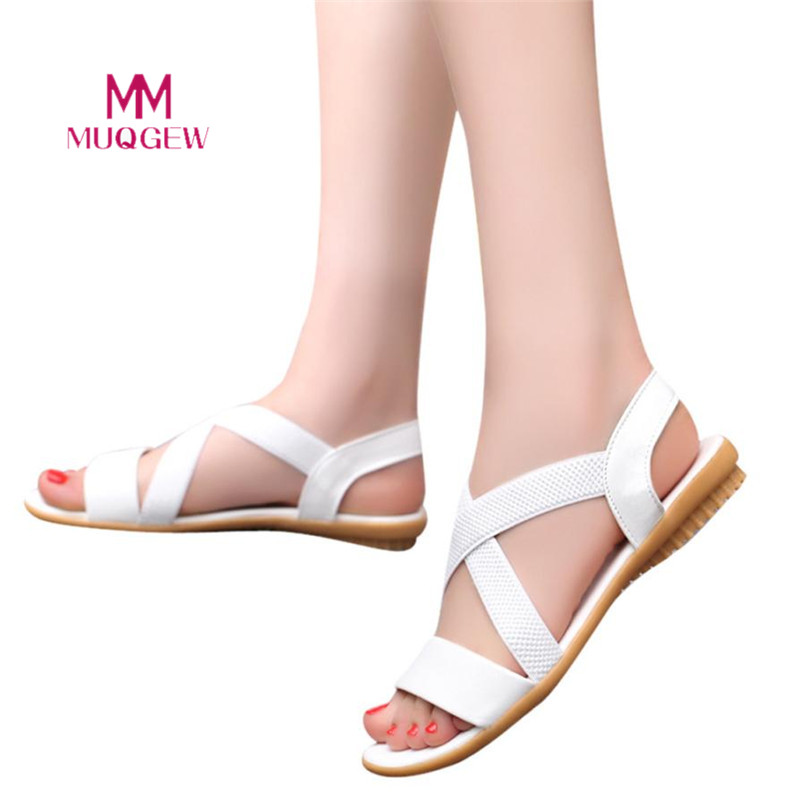 все цены на 2018 New Fahsion Sandal Women Low Heel Anti Skidding Beach Cross Strap Shoes Sandals Peep-toe Sandals Summer Shoes zapatos mujer